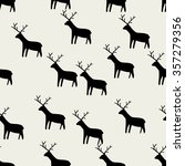 seamless pattern  deer art ... | Shutterstock .eps vector #357279356