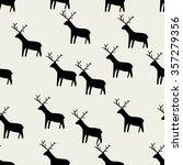 seamless pattern  deer art ... | Shutterstock .eps vector #357279356