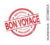 bon voyage rubber stamp vector | Shutterstock .eps vector #357288515