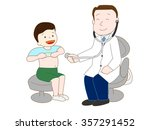 the medical examination of the... | Shutterstock .eps vector #357291452