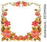 frame for design in the style... | Shutterstock . vector #357299366