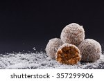 Homemade Coconut Rum Balls On ...