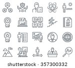 business icon set suitable for... | Shutterstock .eps vector #357300332