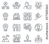 business icon set suitable for... | Shutterstock .eps vector #357300362