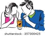 couple illustration  | Shutterstock .eps vector #357300425