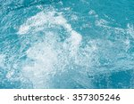 blue swimming pool surface... | Shutterstock . vector #357305246