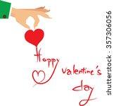 happy valentine's day  | Shutterstock .eps vector #357306056