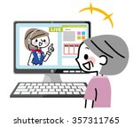 live chat | Shutterstock .eps vector #357311765