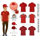 set of templates color polo... | Shutterstock .eps vector #357312212