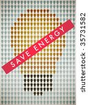 The poster encourages abandon incandescent lamps. - stock vector