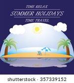 beach ocean | Shutterstock .eps vector #357339152