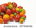 mini tomato white background