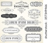 vintage labels and ornaments  ... | Shutterstock .eps vector #357349466