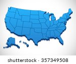 united states of america map  ... | Shutterstock .eps vector #357349508