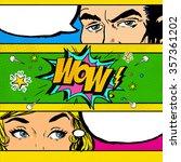 pop art comic dialog. pop art...   Shutterstock . vector #357361202