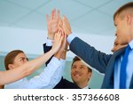 business people with their... | Shutterstock . vector #357366608