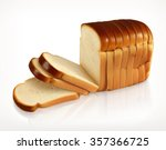 bread  bakery icon  sliced... | Shutterstock .eps vector #357366725