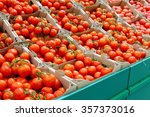 lots of tomatoes in the store | Shutterstock . vector #357373016