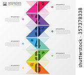 infographics timeline. colorful ...   Shutterstock .eps vector #357378338