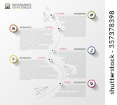 timeline infographics. modern... | Shutterstock .eps vector #357378398