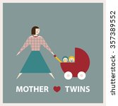 mother loves twins. raster... | Shutterstock . vector #357389552