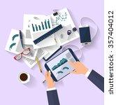 work concept   business concept ... | Shutterstock .eps vector #357404012