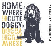vector hand drawn typography... | Shutterstock .eps vector #357405662