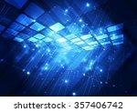 abstract futuristic digital... | Shutterstock .eps vector #357406742