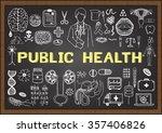 doodle about public health on... | Shutterstock .eps vector #357406826
