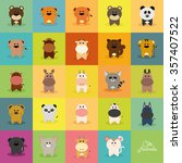 abstract cute animals on a... | Shutterstock .eps vector #357407522
