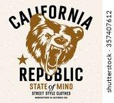 california republic vintage... | Shutterstock .eps vector #357407612