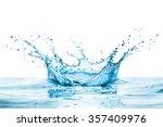 water splash with reflection   Shutterstock . vector #357409976