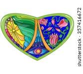 vector illustration stained... | Shutterstock .eps vector #357416672