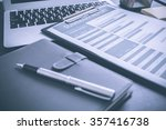 showing business and financial... | Shutterstock . vector #357416738