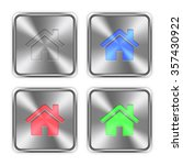 color home icons engraved in...