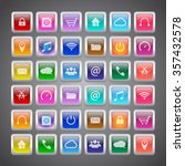 application icons set with... | Shutterstock .eps vector #357432578