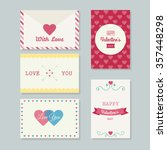 collection of printable... | Shutterstock .eps vector #357448298