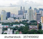 aerial view group of high rise... | Shutterstock . vector #357450002