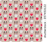 rabbit seamless pattern. can be ...   Shutterstock .eps vector #357453122