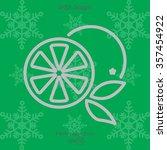 web line icon. orange | Shutterstock .eps vector #357454922