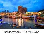 clarke quay in downtown... | Shutterstock . vector #357486665