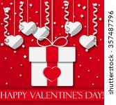 happy valentine's day vector... | Shutterstock .eps vector #357487796