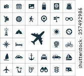 travel icons vector set | Shutterstock .eps vector #357492986