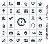 service icons vector set | Shutterstock .eps vector #357493232