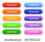 set of 'join now' buttons   Shutterstock .eps vector #357501212