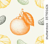 vector seamless pattern with... | Shutterstock .eps vector #357501626