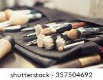 set of brushes  make up... | Shutterstock . vector #357504692