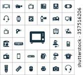 electronics icons vector set.   Shutterstock .eps vector #357516206