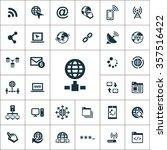 internet icons vector set | Shutterstock .eps vector #357516422
