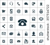 contact us icons vector set | Shutterstock .eps vector #357516722